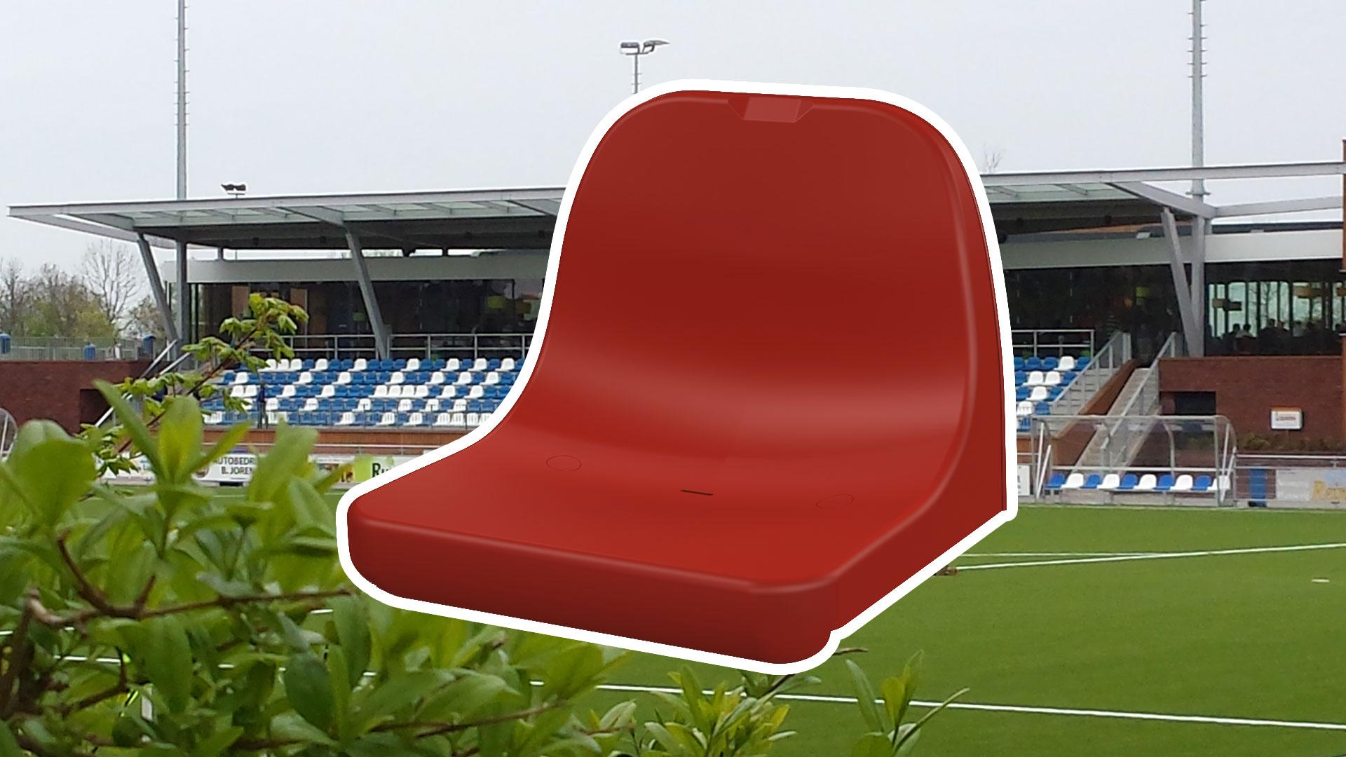 Stadionstoel A3 dubbelwandige rugleuning