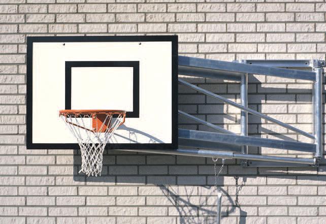 Basketbalinstallatie voor wandmontage