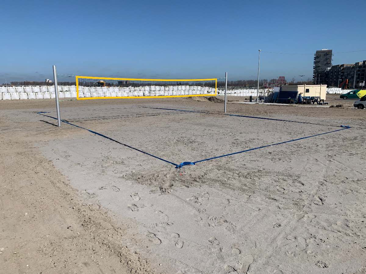 Multifunctionele beachvolleybalpalen