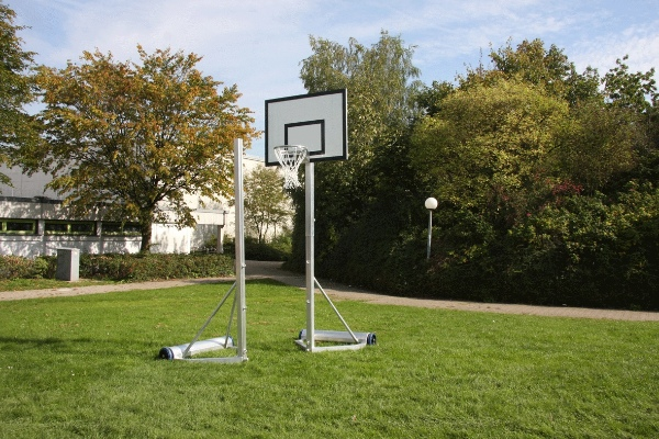 mobiele recreatieset gras basketbalbord