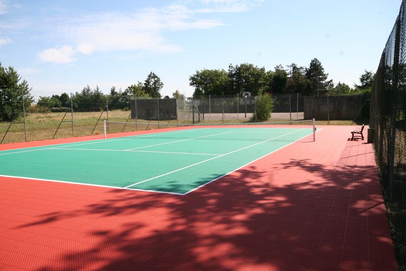 Modulaire sportvloer voor tennis