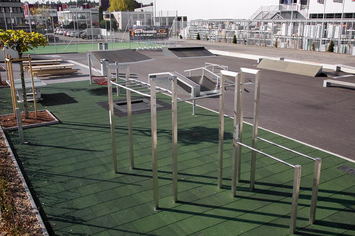 Rubber tegel outdoor fitnessvloer