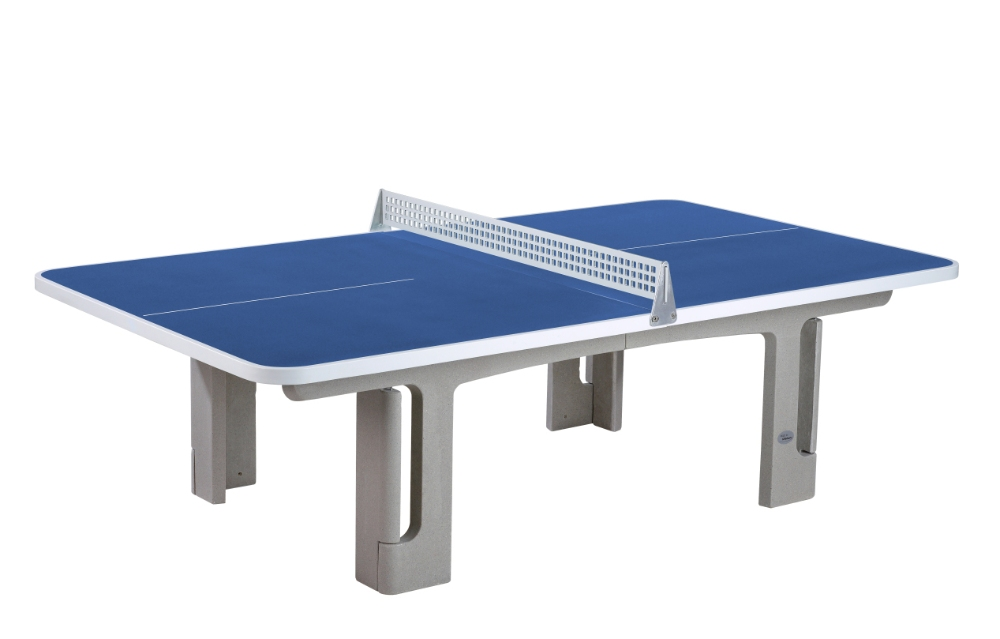 outdoor tafeltennistafel blauw ronde hoeken