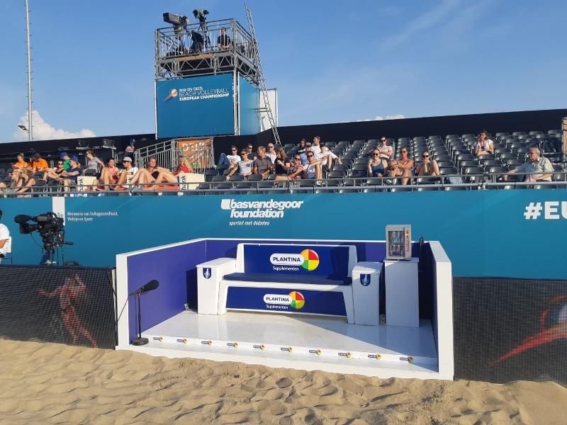 sportbank voor beachsporten