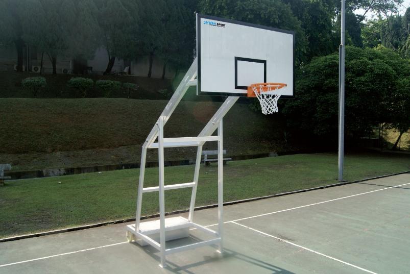 verrijdbare basketbalinstallatie