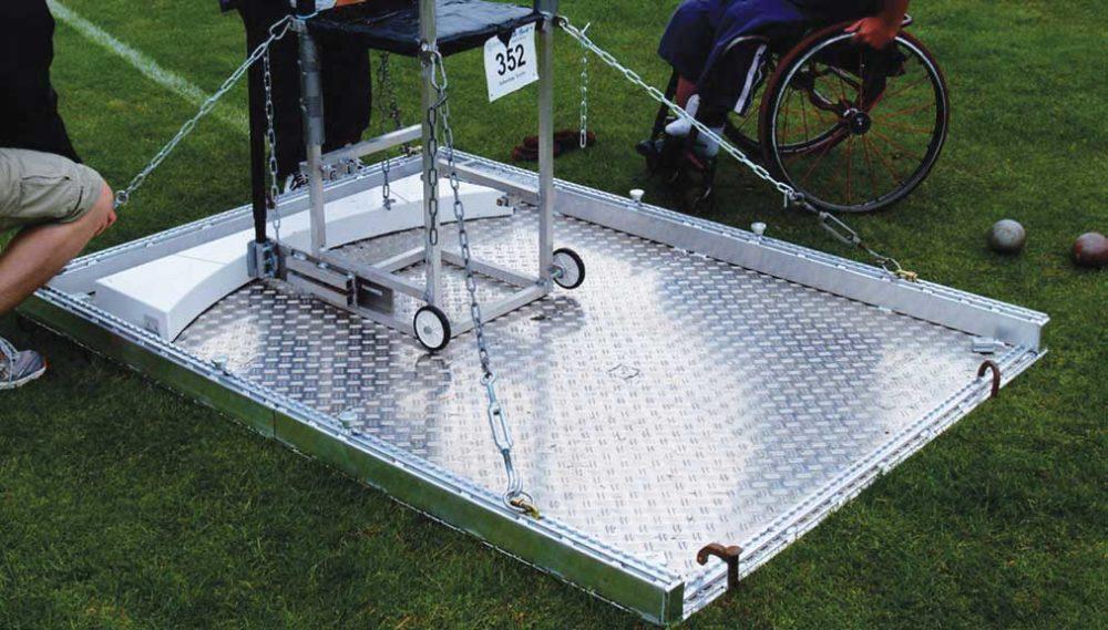 Werpplatform voor rolstoel