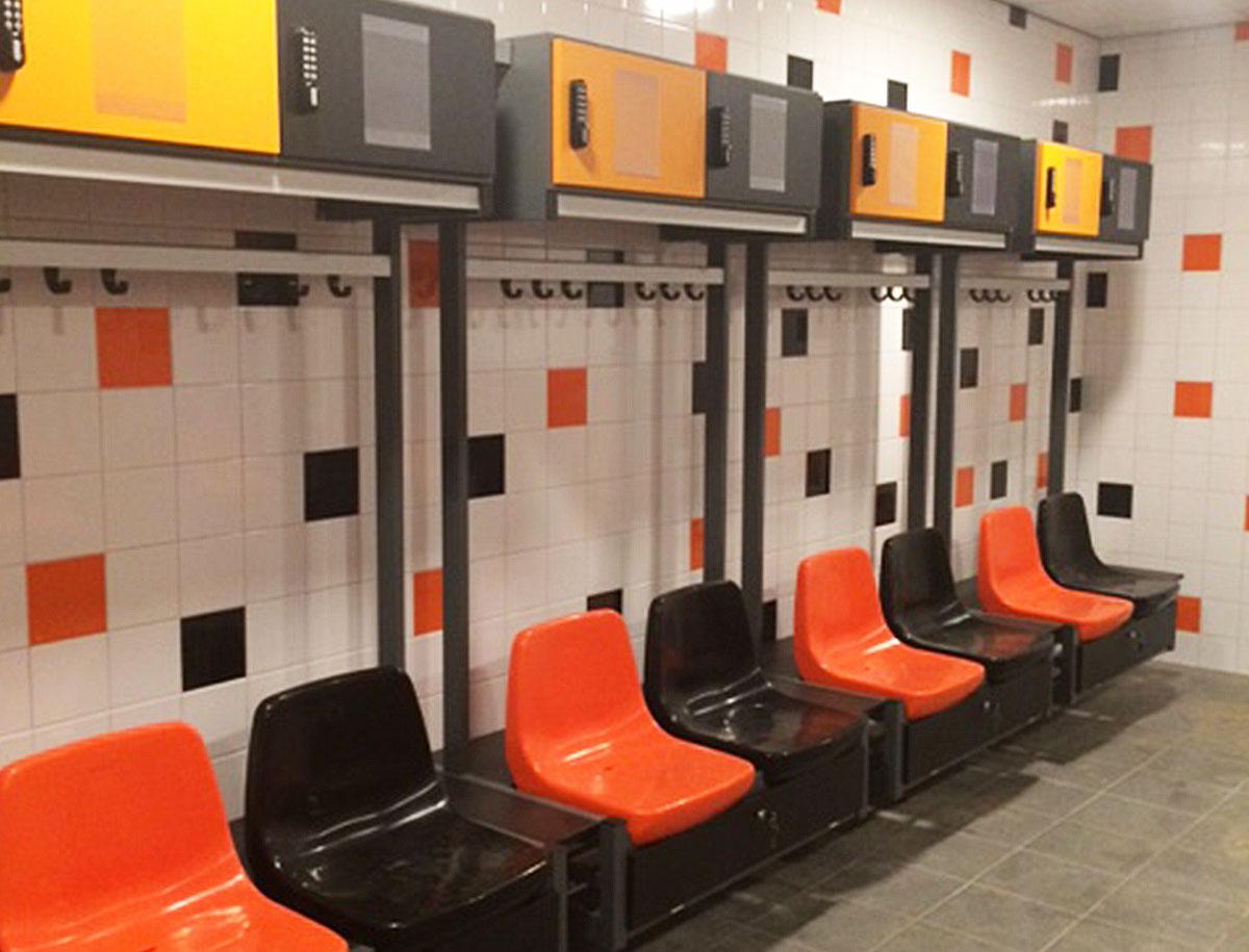 Sport lockers kleedkamer