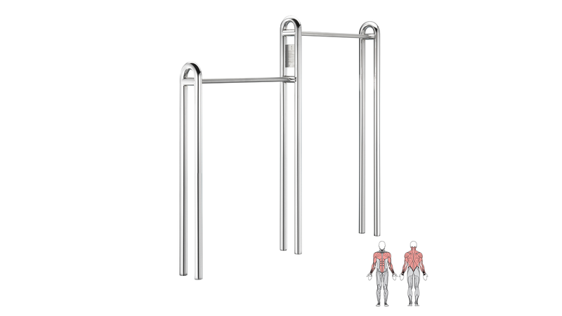 Gymnastic bar optrekstang outdoor