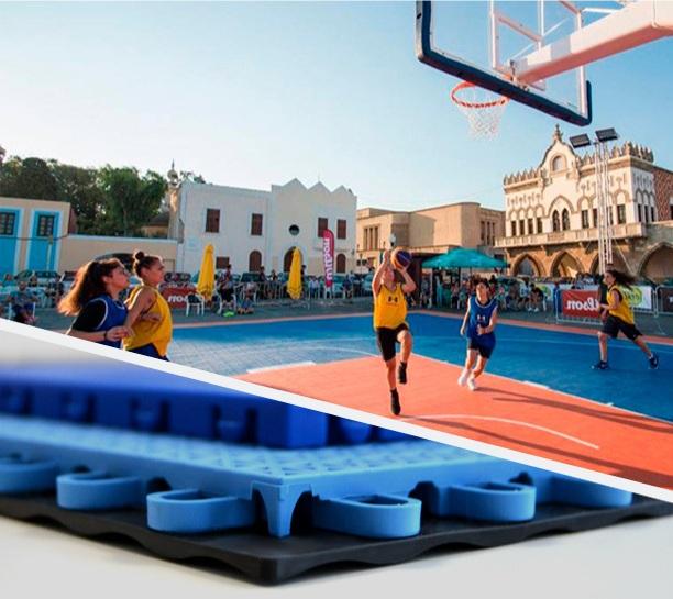 Patmos master - modulaire outdoor sportvloer