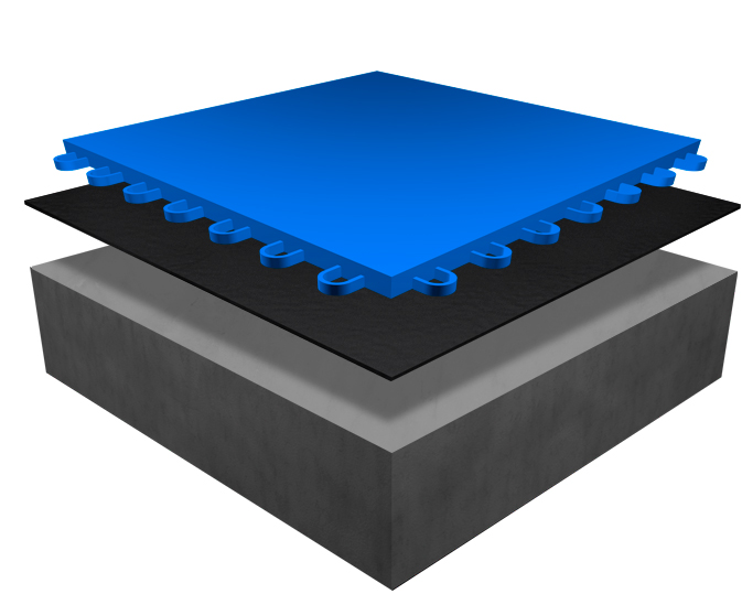 modulaire- sporttegel blauw