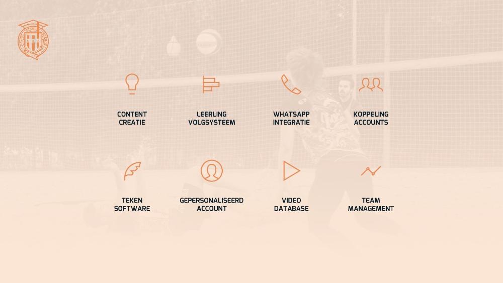 online sports academy functionaliteit
