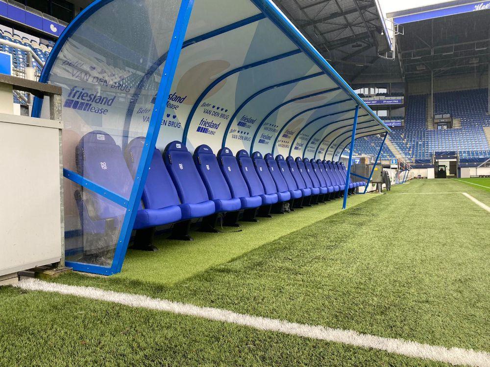 dug out business seats sc heerenveen voetbaldoelen