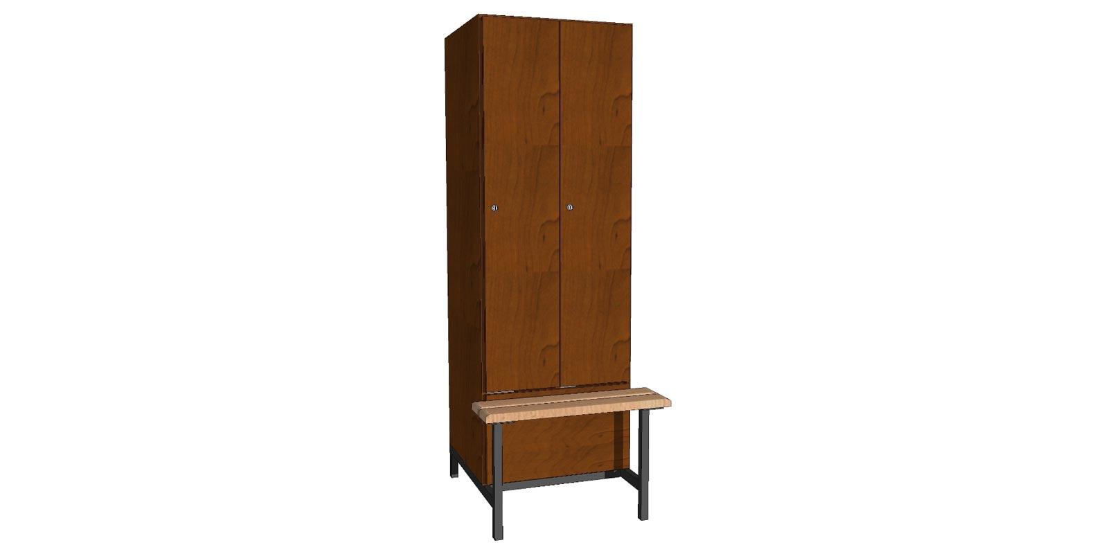 Garderobekast inclusief bank - WHGK03