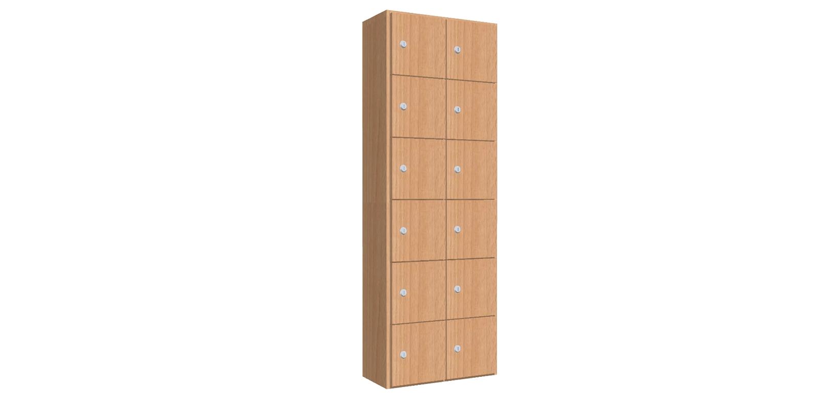 Lockerkast voorzien van 12 mini lockers - WHML01