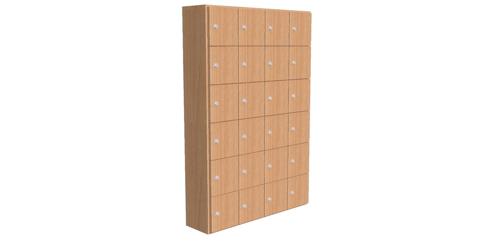 Lockerkast voorzien van 24 mini lockers - WHML02