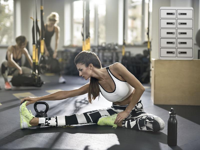 Oplaadlockers fitness