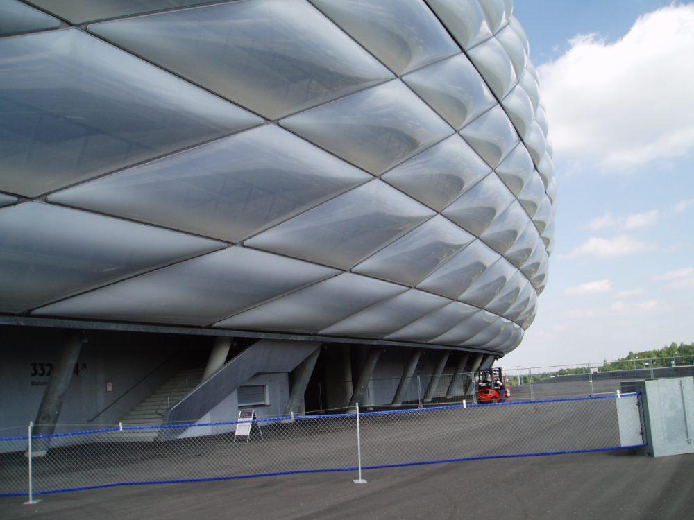 flexibele hekwerken stadions