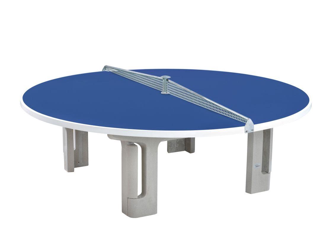 ronde tafeltennistafel blauw